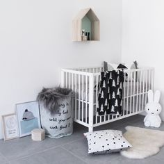 Floor bunny lamp - How to Decorate a Scandinavian-Inspired Nursery - Petit & Small