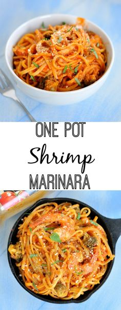 This one pot shrimp marinara will turn weeknight dinners into something worth sitting at the table a little longer for. #MyTuscanTable [AD]: