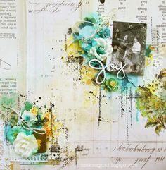 Joy - layout - Blue Fern Studios - Scrapbook.com