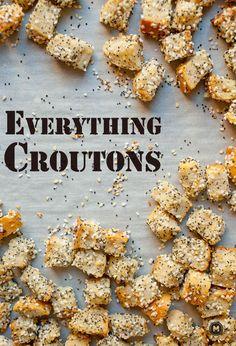 Everything Croutons! Try making with Jimmy John's yummy Day Old Bread!