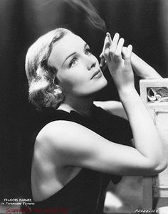 "Frances Farmer: Refusal to play the Hollywood game made her odd man out.  An arrest + no lawers to protect her, she was stripped of her rights. Her own mother refused to accept her daughters rejection of stardom. She had Frances placed in an abusive mental hospital for close keeping. Frances endured years of brutal ""Treatments"" until in1949 they finally broke her spirit + let her leave. In 1970 at the age of 57, she died from throat cancer, the result of her hospital diet of toxic drugs. MH"