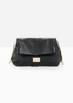 & Other Stories   Small Leather Fold-Over Bag