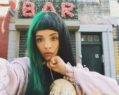 Image uploaded by leslie. Find images and videos about melanie martinez, cry baby and crybaby on We Heart It - the app to get lost in what you love. Cry Baby, Crybaby Melanie Martinez, Melanie Martinez Style, Looks Dark, Lollapalooza, Her Music, Celebs, Celebrities, Green Hair