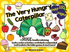 Everyone loves Eric Carle! Get ready to have loads of fun with this HUGE bundle as a companion to the story The Very Hungry Caterpillar. This bundle includes over 100 pages of interactive books, games, centers, worksheet, Math and Literacy centers, and task basket activities geared toward Pre-K, K, 1, Special Education, Autism, and SLP.