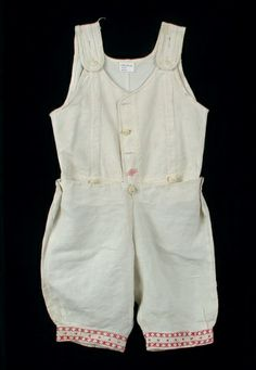 Boy's Undershirt, off-white cotton, ivory bone buttons, circa 1915.