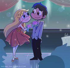 "anomalyah: ""When Star says ""Should've just gone to that stupid dance!"" I really imagined an alternative scene where she would goes with Marco, no research of BonBon there would be, Glossaryck would be still with Star and Ludo would be with empty..."