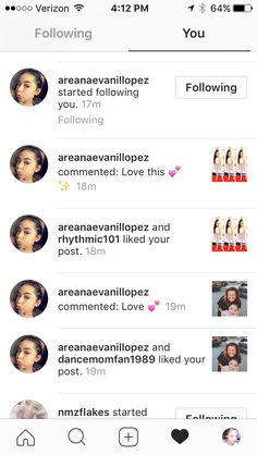 Ari followed on both my accounts