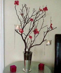 [DIY Manzanita Tree Centerpiece] :  wedding diy centerpiece manzanita tree centerpiece