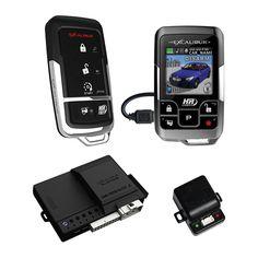 Omega Car Electronics Al20753dbl Excalibur 1 Mile Color 2 Way Security Remote Start Alarm Combo Walmart Com Remote Start Car Alarm Remote