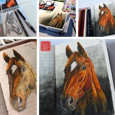 My friend @bakernico posted a picture of her horse Rosi on facebook, and I drew it. . #artjournal #artjournaling #visualjournal #journaling #journaladdicted #moleskine #drawingoftheday #pictureoftheday #picoftheday #illustratedjournal #illustrateddiary #illustriertestagebuch #art #illustration #drawing #draw #sketch #sketchbook #creative #graphic #artoftheday #moleskine_arts, #日記, #イラスト #horsedrawing #horse #watercolor #makingof #horseportrait #pferdezeichnung