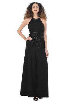 0b5b3e47539c I  lt 3 this Faux leather trim belt cotton knit jumpsuit from eShakti Belt