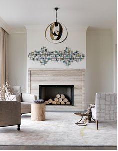 Modern fireplace simplicity