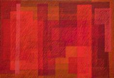 """"""" VERMELHOS"""" - Têmpera vinílica sobre tela gessada sobre chassis - Dim 110 x 160 cms. - Data 2011"""