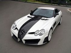 Mercedes McLaren SLR white and black .....  Straight up a bad whip!