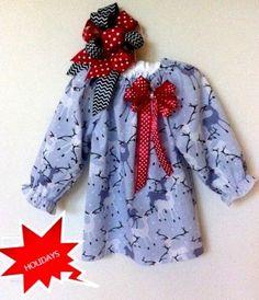 REINDEER PEASANT DRESS by LittleBitzBotique on Etsy, $28.00