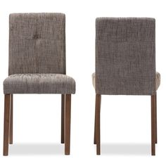 Baxton Studio Elsa Gravel Contemporary Dining Chair (Set of 2)  Decent reviews; only $145.79 for 2