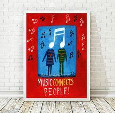 Printable Art, Nursery Decor, Children Art, Music Print, Kids Art, Quote Art Print, Kids Room Decor, Music Art Print, INSTANT DOWNLOAD by AthinArtPrint on Etsy