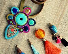 Collier Soutache + 4 pendentifs interchangeables