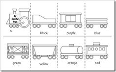"Making Learing Fun has excellent ideas and printables for a Train theme. It is based on the book ""Freight Train"" by Donald Crews. Transportation Activities, Train Activities, Book Activities, Preschool Activities, Preschool Alphabet, Preschool Classroom, Trains Preschool, Train Coloring Pages, Coloring Book"