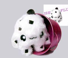 Kawaii  Plush  little Stracciatella Cupcake Monster von Fluse123, €22.00