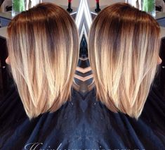 Short balayage ombre, love this colour!
