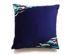 WIND embroidery cushion by My Friend Paco