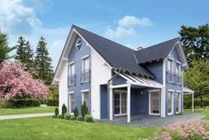 Fertighaus - Danwood S.A. - Point 191 Modern, Garage Doors, Shed, Outdoor Structures, Outdoor Decor, Home Decor, Roof Styles, Floor Layout, Private Garden