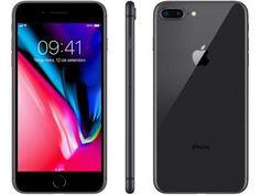 "iPhone 8 Plus Apple 256GB Cinza Espacial 4G - Tela 5,5"" Retina Câmera 12MP iOS 11 Proc. Chip A11"