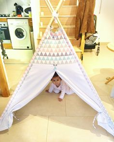 Our triangles tepee!! Made by Lykamivia