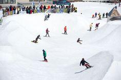 This course looks so fun. photo: E-Stone Dispatches: Lib Tech's Holy Bowly 2013 | Snowboarder Magazine #snowboarderphotos