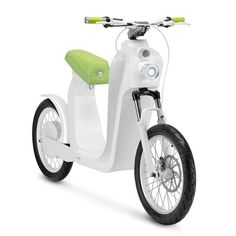 Xkuty electric bike by The Electric Mobility Company that uses iPhone as a dashboard to monitor speed, battery life and accidents.