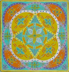 Mandala IV. Acrílico sobre tabla  19x19cm  25€
