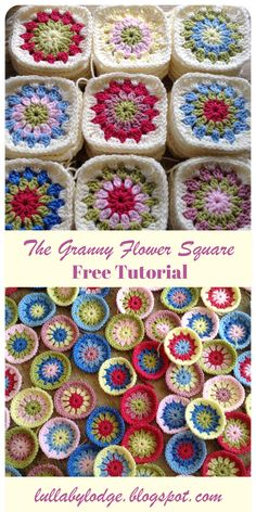 Learn how to crochet the granny flower square in this simple tutorial suitable for beginners. Learn how to crochet the granny flower square in this simple tutorial suitable for beginners. Crochet Flower Squares, Crochet Squares Afghan, Crochet Blocks, Granny Square Crochet Pattern, Afghan Crochet Patterns, Crochet Square Blanket, Crochet Leaves, Amigurumi Patterns, Granny Square Häkelanleitung