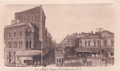 High Street, Christchurch, NZ Nz History, Christchurch New Zealand, Old Skool, Old Photos, Gay, Street, Painting, Old Pictures, Vintage Photos