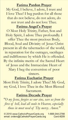 Best Inspirational Quotes About Life QUOTATION – Image : Quotes Of the day – Life Quote Our Lady of Fatima….pray for us. Sharing is Caring – Keep QuotesDaily up, share this quote ! Catholic Religion, Catholic Quotes, Religious Quotes, Rosary Quotes, Catholic Theology, Prayer Quotes, Power Of Prayer, My Prayer, Healing Prayer
