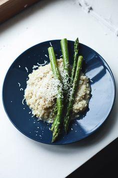 Parmesan Garlic Quinoa with Asparagus