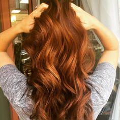 Pumpkin spice hair cheveux longs