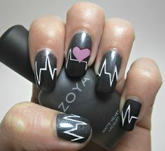 Feels like you're beating, beating the drum beats into my heart. Valentine's Day Nails