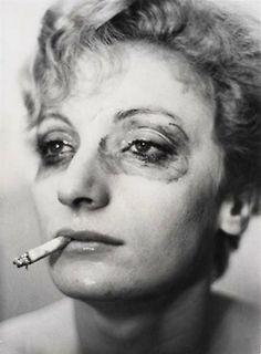 Louis Faurer, Viva. (Portrait of woman smoking), New York, 1962
