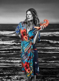 """Paul Smith looks to the ocean for spring/summer 2018 with a unique new campaign featuring Malgosia Bela and Ben Allen. """"The new campaign transports the collection to the South of France where neon signs, sandy … Paul Smith, Christopher Kane, Sonia Rykiel, Fenty Puma, Jil Sander, Victoria Beckham, Acne Studios, Rihanna, Versace"""