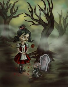 Gothic Fairy Zombie Girl Love Halloween Fantasy Art Print