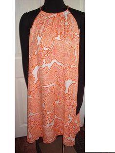 NEW NWT Michael Michael Kors L Silk Halter Tent Dress Asymmetrical Hem Lined