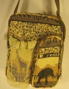 Women Tote Bag African Animal Prints Nylon Lining Beige Black Gold Side Pockets #Unbranded #ToteBag
