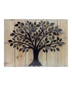 Another great find on #zulily! Wood & Metal Tree Wall Art #zulilyfinds