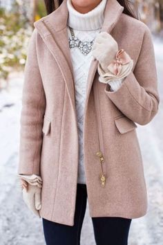 Cozy layers are perfect for a preppy outfit!