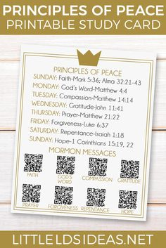 Principles of Peace Prince of Peace Study Card from Little LDS Ideas Use this Prince of Peace study card to help you study the principles of peace. Peace Studies, Bible Studies, Yw Handouts, Mormon Messages, Study Cards, Young Women Lessons, Lds Scriptures, Family Home Evening, Family Night