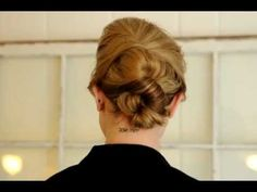 Check out this simple but lovely updo tutorial for medium and long hair. Even I could do this!