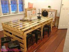 Mesa de Refeição feita com paletes