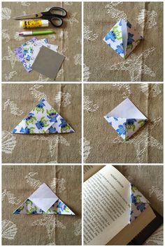 Origami bookmark, easy to follow and cute ideas. Segnalibro facile ma…