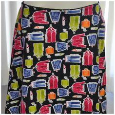 A super fun #fashionista Valerie Stevens A Line skirt. Love this fashion print theme!